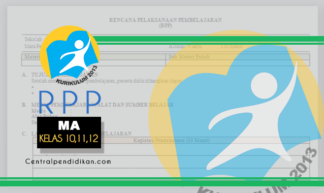 RPP 1 Lembar MA Kurikulum 2013 Revisi 2021/2022, Lengkap