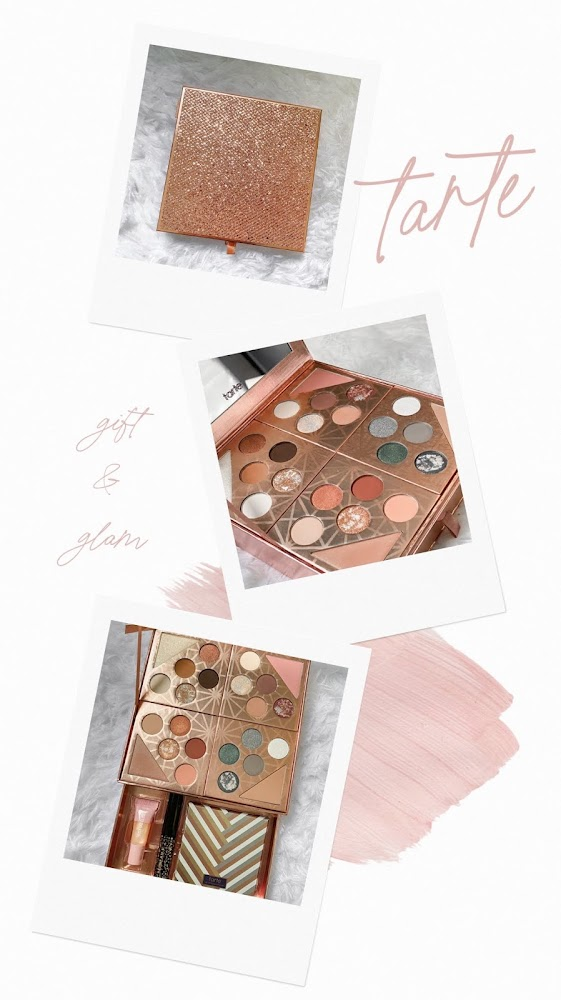 tarte gift & glam collector's set eyeshadow review