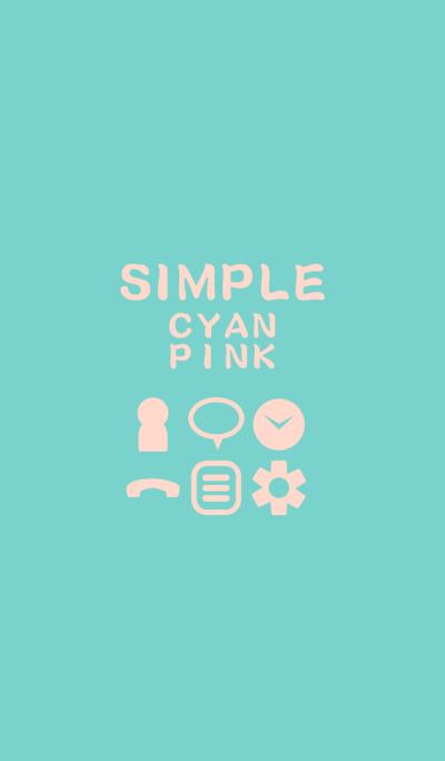 SIMPLE cyan*pink*