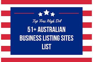 51+ High DA Free Australian Local Business Listing Sites List for SEO