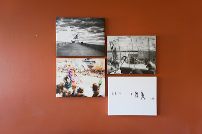 4 canvases on a wall