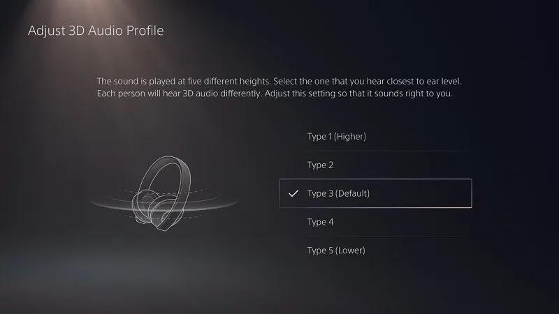 واجهة مستخدم الصوت PS5 ثلاثية الأبعاد