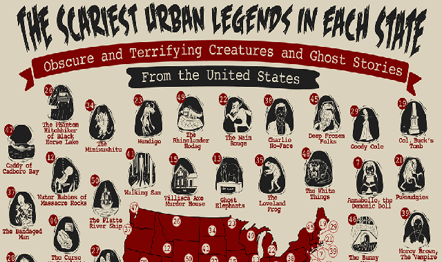 The Scariest Urban Legends in Each State #infographic