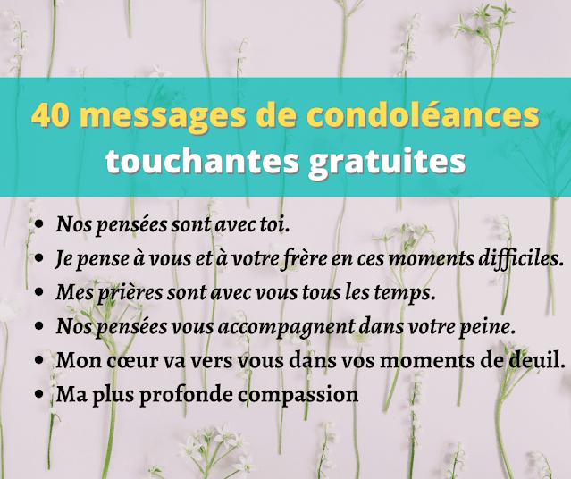40 messages de condoléances touchantes gratuites