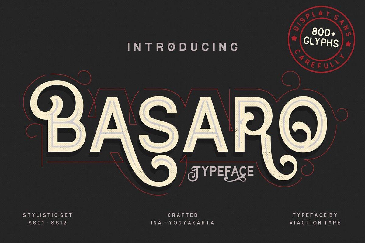 Basaro Display Font Free Download - Free Script Fonts