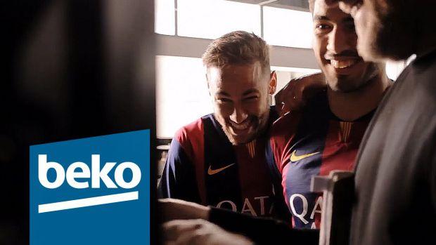 Les joueurs du FC Barcelone sont mis en scène dans les dernières publicités Beko en France