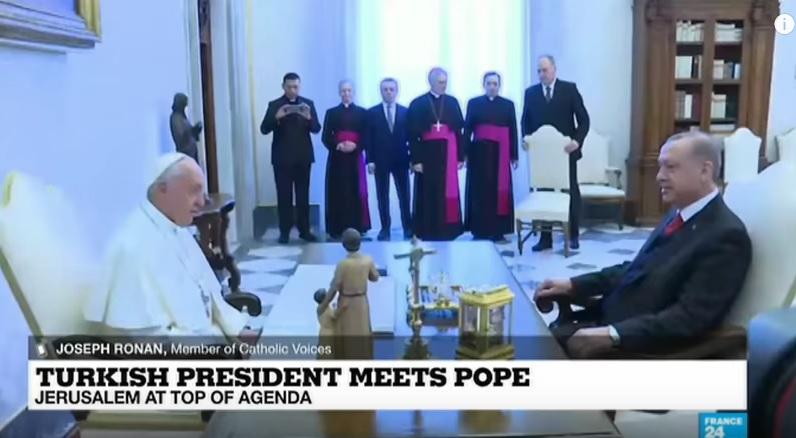 kursi Erdogan di vatikan