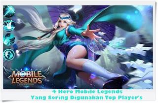 Inilah 4 Hero Mobile Legends Yang Sering Digunakan Top Players