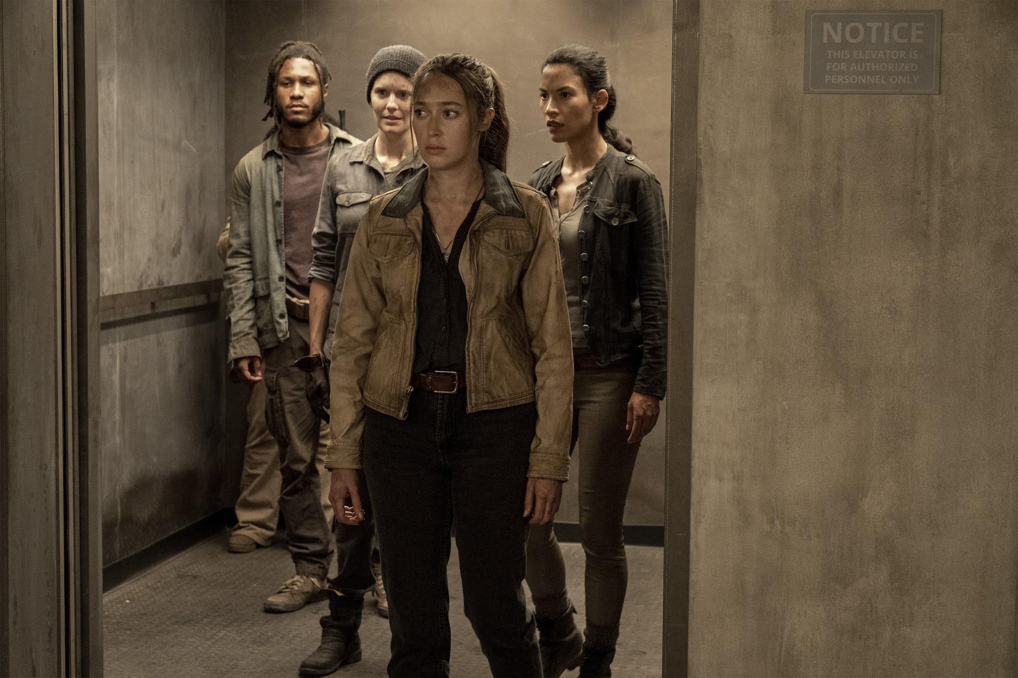 Alicia, Althea, Luciana y Wes llegan al escondite de los grafiteros en Fear The Walking Dead