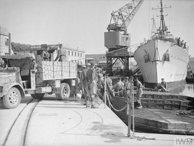 HMS Welshman unloading at Malta, 10 May 1942 worldwartwo.filminspector.com