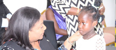 Little Harriet Shows Appreciation To The First Lady Of Ghana, Mrs. Rebecca Akufo-Addo