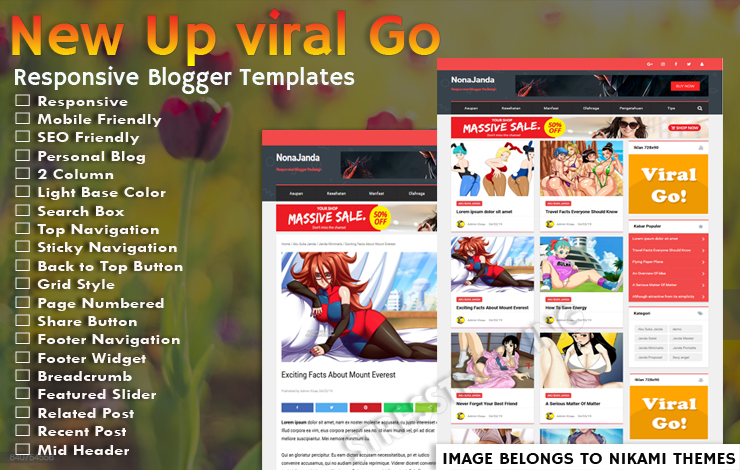 New Up viral Go Pro Template - Responsive Blogger Template