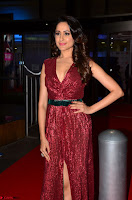 Pragya Jaiswal stunning Smiling Beauty in Deep neck sleeveless Maroon Gown at 64th Jio Filmfare Awards South 2017 ~  Exclusive 062.JPG