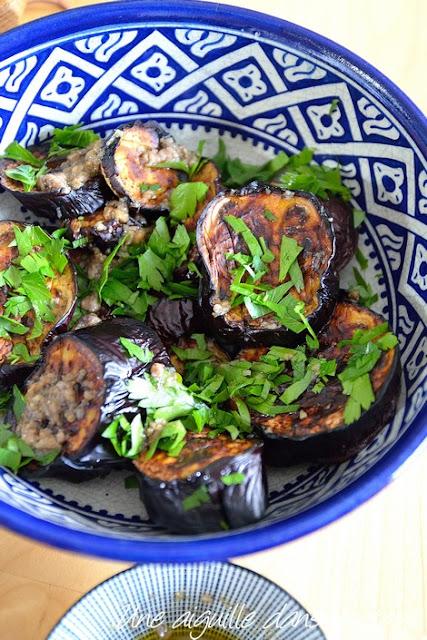 Aubergines rôties aux anchois et à l'origan, d'Ottolenghi