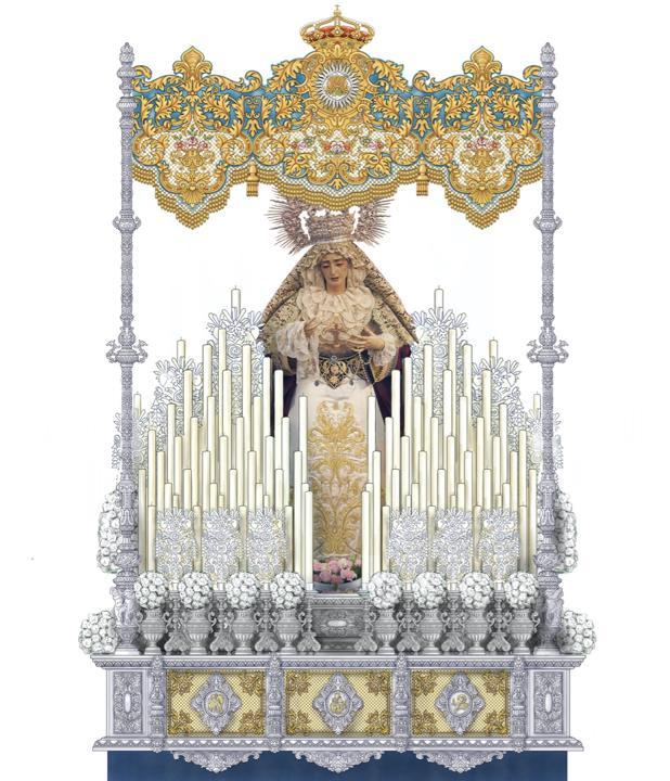 Aprobado el proyecto de paso de palio para María Santísima de la Aurora de Cabra