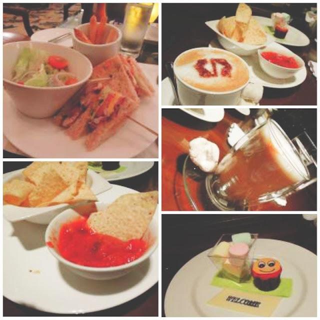 Food at the Lobby Lounge in Makati Shangri-La