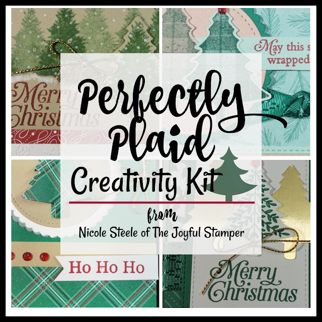 perfectly plaid, christmas cards, pine tree punch, stamp kit, stamp class, online stamp class, learn to stamp, how to make a card, learn to make a card, how to stamp, learn stamping techniques, stampin' up!, nicole steele, the joyfulstamper, independent stampin' up! demonstrator from pittsburgh pa