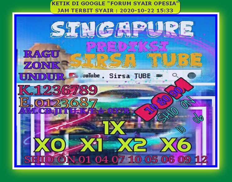 Kode syair Singapore Kamis 22 Oktober 2020 74