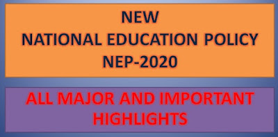NEW NATIONAL EDUCATION POLICY (NEP) 2020 IN INDIA