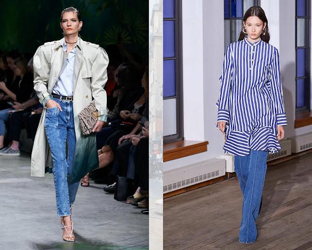 джинсы с декоративной строчкой