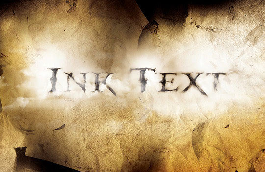 Create a Dissolved Ancient Ink Text Effect in Photoshop