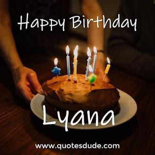 Happy Birthday Lyana Cake