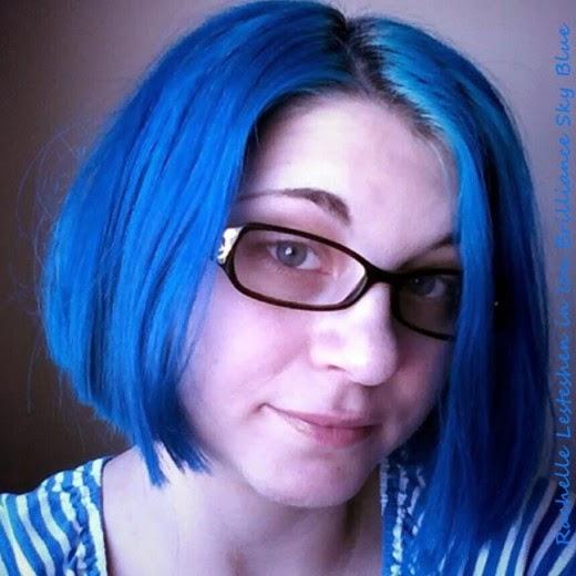 rachelle blue hair one month haircut