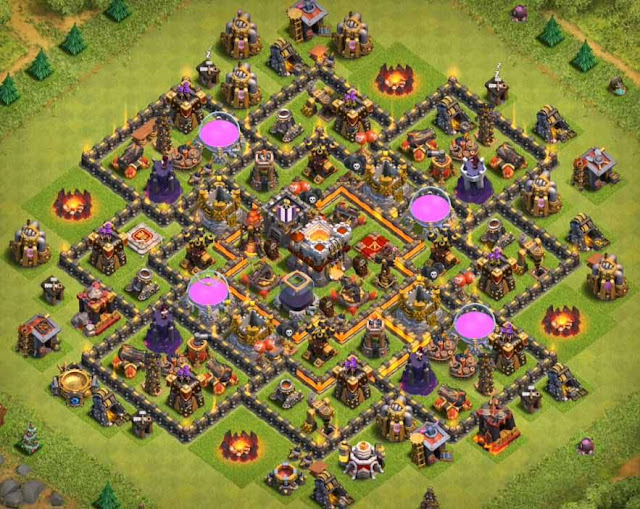 Base Town Hall 10 Clash of Clans Trophy