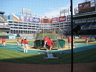 Home to center, Ballpark at Arlington