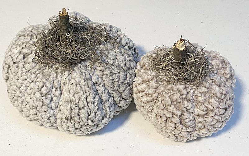 DIY Recycled Sherpa Pumpkins