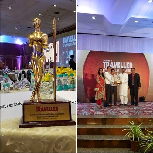 GTA Darjeeling receives Traveller Best Rural Tourism Destination Award
