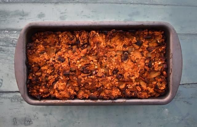 Making  Vegan Haggis Step 11 (cooked haggis)