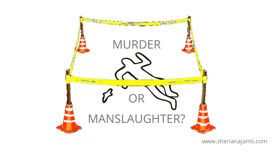 What are the legal different between murder and manslaughter?