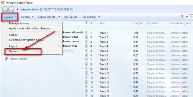 Chuyển định dạng .cda sang .mp3 bằng Windows Media Player