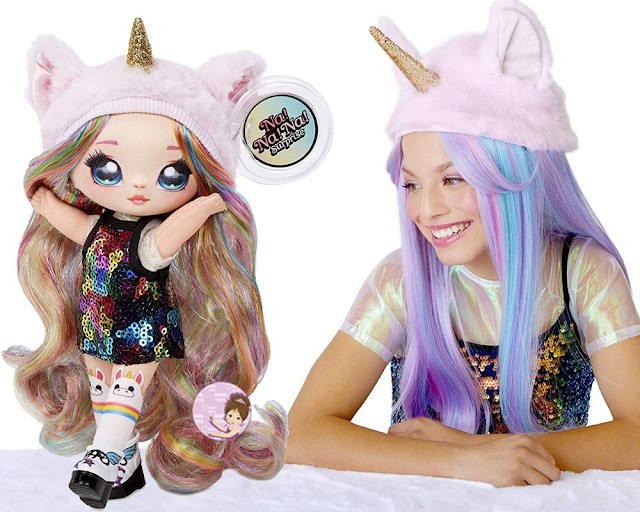 Pre-order NA NA NA! Surprise 2-in-1 Fashion Doll & Plush Pom with Confetti Balloon