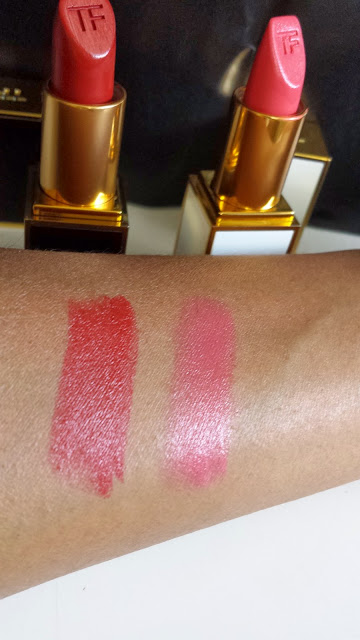 Tom Ford Lipsticks 'Paradiso' and 'Rouge Fatale' swatches www.modenmakeup.com