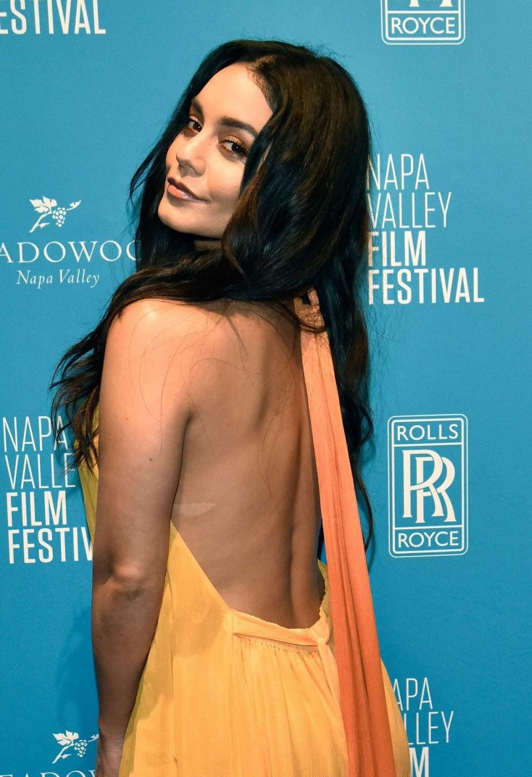 Vanessa Hudgens goes backless at the Napa Valley Film Festival
