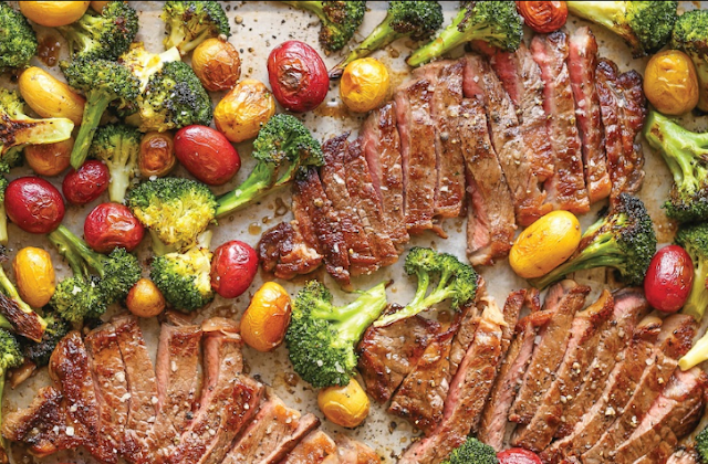 Sheet Pan Steak and Veggies #healthy #glutenfree