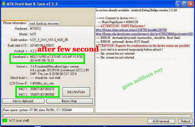 MTK based cpu devices Unknown baseband, Invalid imei, null imei