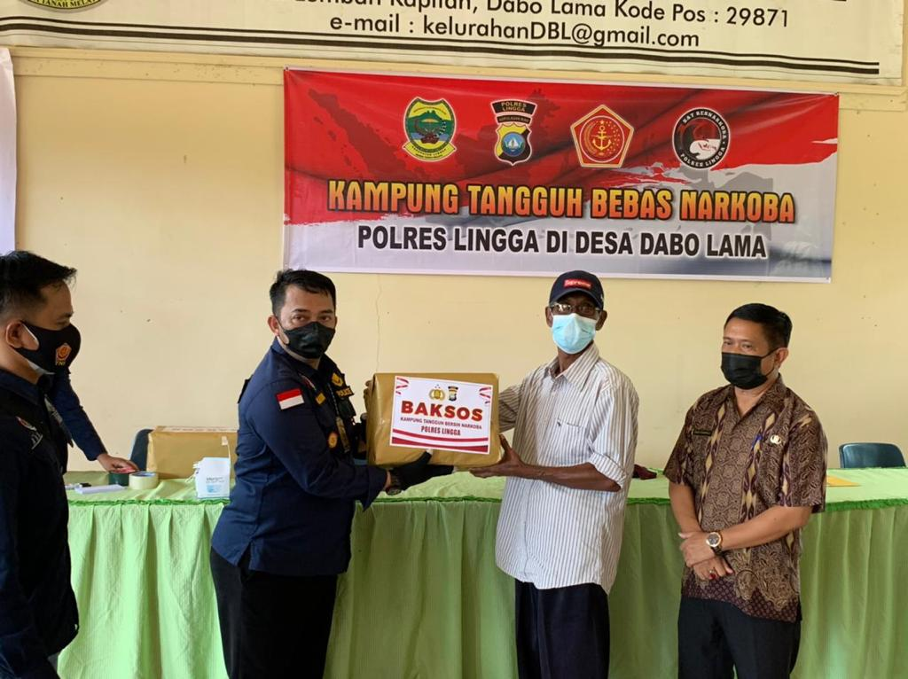 Polres Lingga Bentuk Kampung Tangguh Anti Narkoba