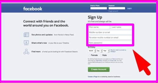 facebook login signup and learn more