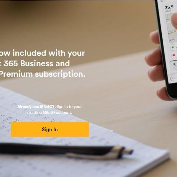 MileIQ Premium for Microsoft 365 Business and Office 365 Business Premium