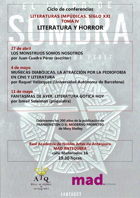 Ciclo de Conferencias sobre Literatura y Horror en el MAD de Antequera