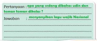 pertanyaan tentang kegiatan yang dilakukan siswa kelas Udin pada gambar www.simplenews.me