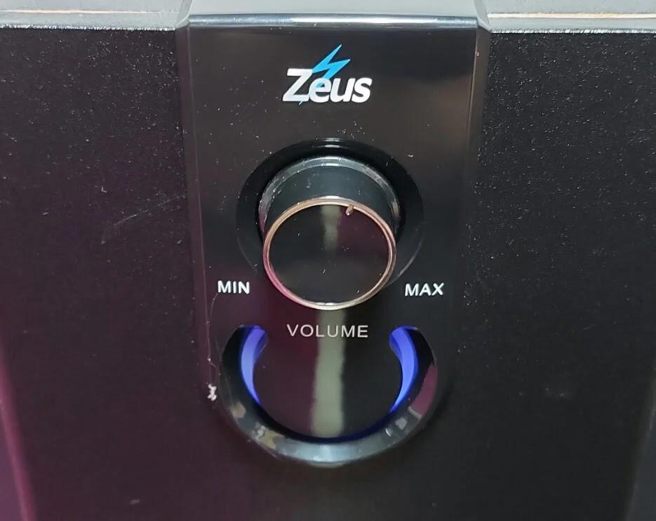 Zeus A-350 Bluetooth Speaker Volume Control