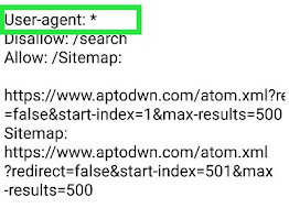 What is sitemap user agent