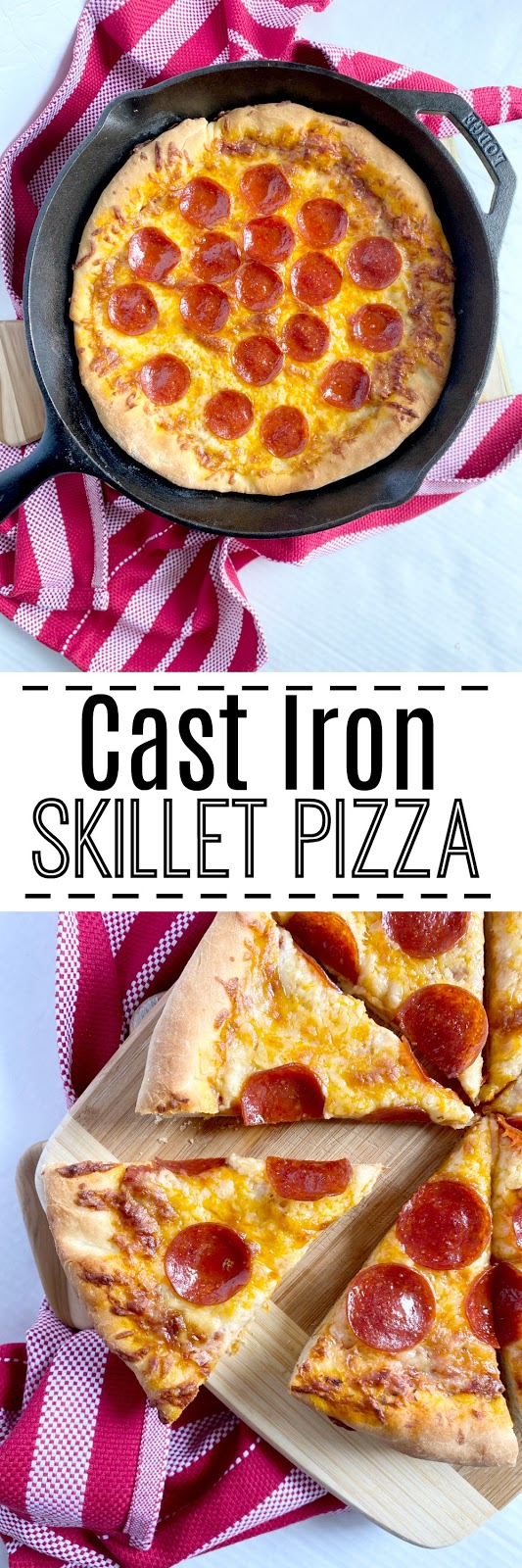 cast iron skillet pizza #sweetsavoryeats #castiron #skilletpizza
