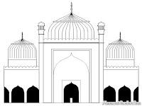 Gambar Masjid Yang Megah Untuk Diwarnai Anak-Anak