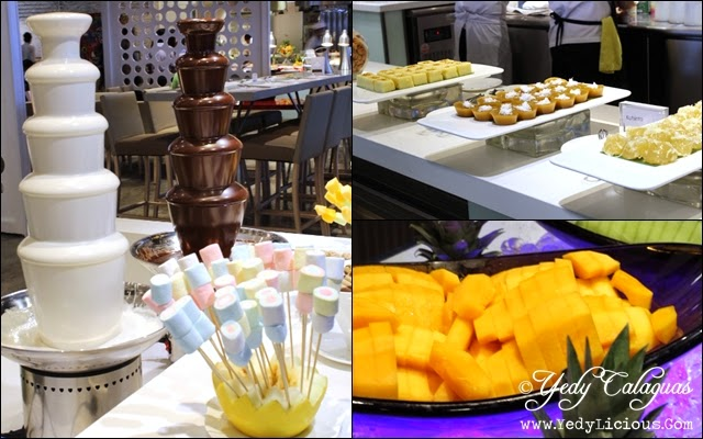 Chocolate Fountain and Pinoy Desserts Station at Vikings Buffet SM Megamall
