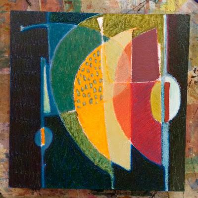 oilstick painting on canvas